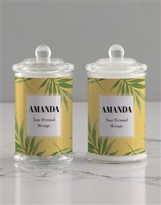 gifts: Personalised Leafy Candle Jar!