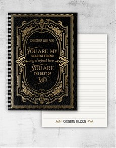 gifts: Personalised Vintage Love Quote Notebook!