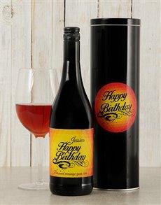 gifts: Personalised Birthday Glow Wine Tin!