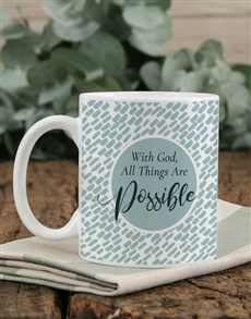 gifts: Personalised All Things Are Possible Mug!