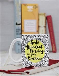 gifts: Personalised Abundant Blessings Birthday Mug!