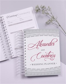 gifts: Personalised Lace Wedding Journal!