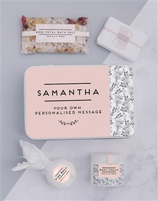 gifts: Personalised Floral Bath Keepsake Box!