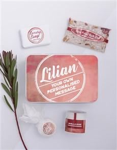 gifts: Personalised Dusty Pink Bath Keepsake Box!