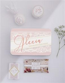 gifts: Personalised Lace Bath Keepsake Box!