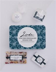 gifts: Personalised Blue Bath Keepsake Box!