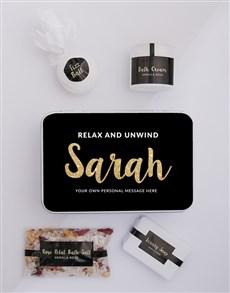 gifts: Personalised Gold Bath Keepsake Box!