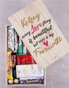 gifts: Personalised Love Story Chocolate Crate!