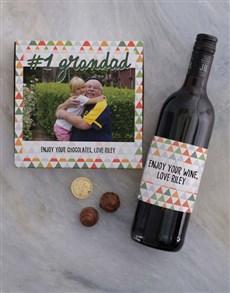 gifts: Personalised Grandad Photo Choc Tray!