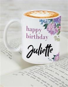 gifts: Personalised Floral Birthday Mug!
