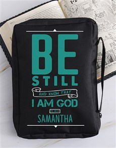 gifts: Personalised Be Still Bible Case!