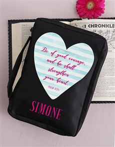 gifts: Personalised Good Courage Bible Case!
