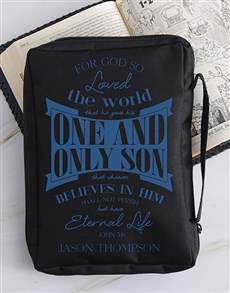 gifts: Personalised Eternal Life Bible Case!