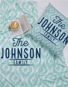 gifts: Personalised Family Blanket or Cushion!