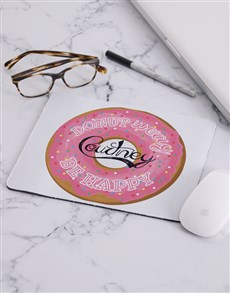gifts: Personalised Donut Worry Mouse Pad!