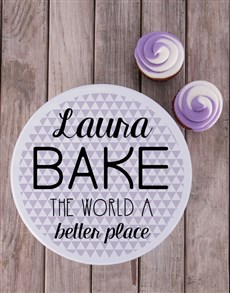 gifts: Personalised Bake The World Cookie Tin!