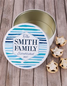 gifts: Personalised Family Cookie Tin!