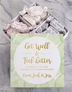 Picture of Personalised Get Well Sally Williams Nougat Box!