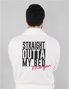 gifts: Personalised Straight Outta Bed Gown!