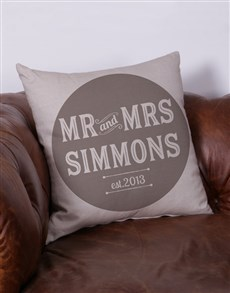 gifts: Personalised Mr and Mrs Scatter Cushion!