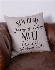 gifts: Personalised New Home Scatter Cushion!