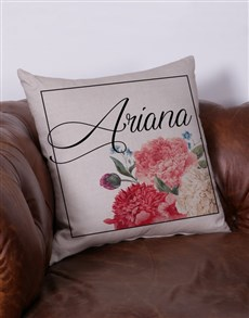 gifts: Personalised Floral Name Scatter Cushion!