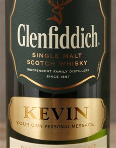 gifts: Personalised Label Glenfiddich 12 Year!