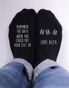 gifts: Personalised Remember The Days Socks!