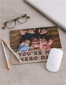 gifts: Personalised My Hero Mouse Pad!