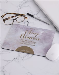 gifts: Personalised Strong Women Mouse Pad!