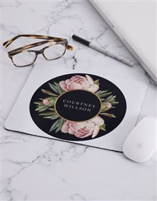 gifts: Personalised Rose Mouse Pad!
