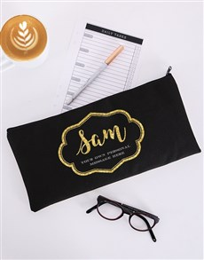 gifts: Personalised Glam Scroll Pencil Bag!