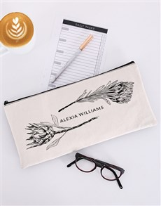 gifts: Personalised Protea Pencil Bag!