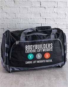 gifts: Personalised Bodybuilder Gym Bag!
