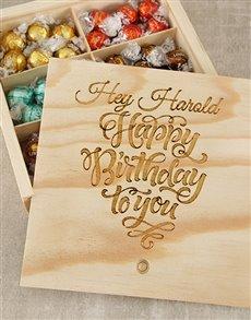 gifts: Personalised Birthday Choc Treasure Box!