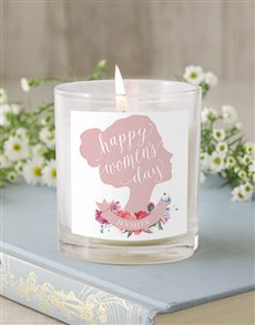 gifts: Personalised Silhouette Rose Candle!