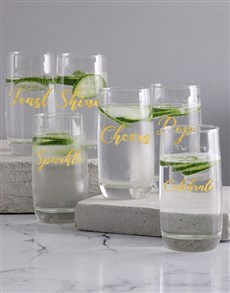 gifts: Personalised Words of Happiness Glass Set!