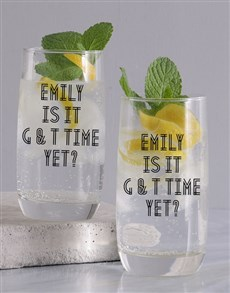 gifts: Personalised Gin Time Glass!