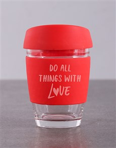 gifts: Personalised Do Things With Love Travel Mug!