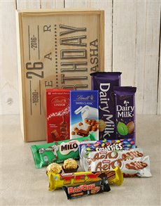 gifts: Personalised Birthday Chocolate Crate!