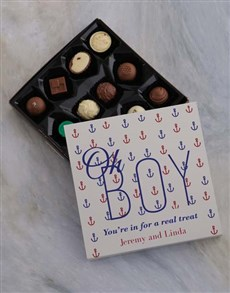 gifts: Personalised Oh Boy Chocolate Tray!