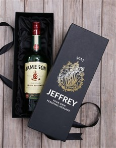 gifts: Personalised Jameson Whiskey Box!