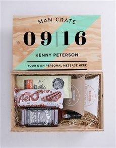 gifts: Personalised Date Man Crate!