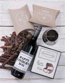 gifts: Personalised Monochrome Father Gourmet Hamper!