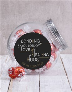 Picture of Personalised Healing Hugs Candy Jar!