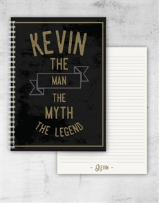 gifts: Personalised The Legend Notebook!