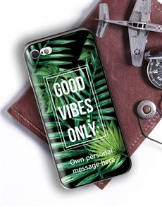 gifts: Personalised Good Vibes iPhone Cover!