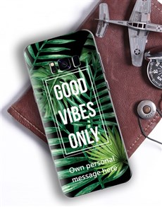 gifts: Personalised Good Vibes Samsung Cover!