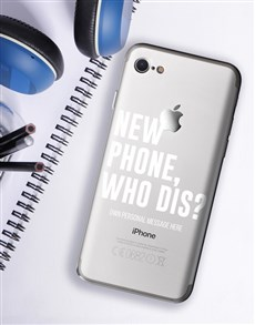 gifts: Personalised Who Dis iPhone Cover!