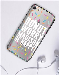 gifts: Personalised Donut iPhone Cover!